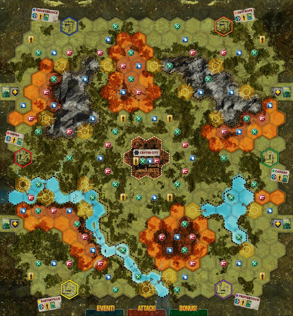 Doom and Bloom SURVIVAL! Gameboard